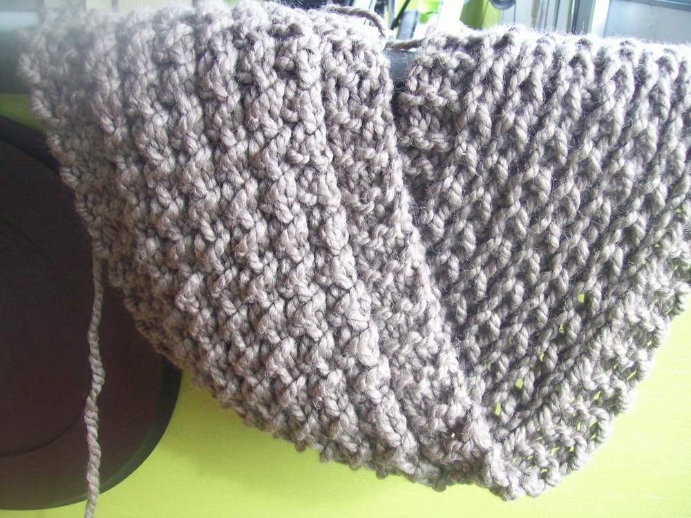 Baby Kangaroo Knitting Pattern : Kangaroo Ridge Scarf AllFreeKnitting.com