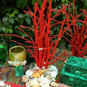 Faux Coral Wedding Centerpiece