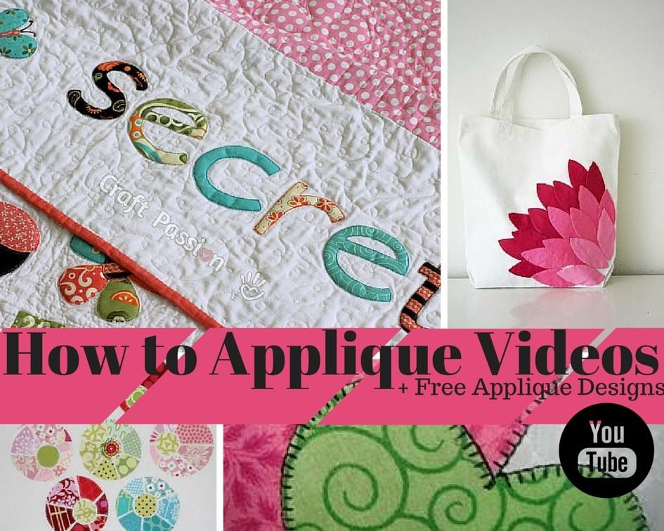 29 how to applique videos & free applique designs favequilts.com