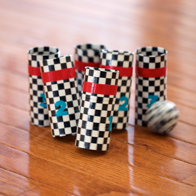 Duck Tape Bowling Game