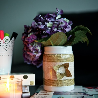 Duck tape flower vase for Duck tape craft ideas