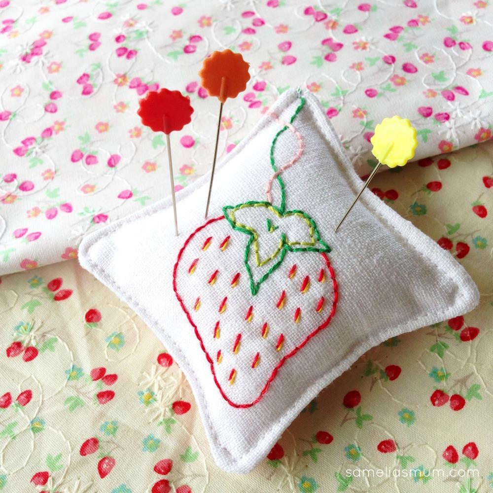 Strawberry Free Pincushion Patterns Allfreesewing Com