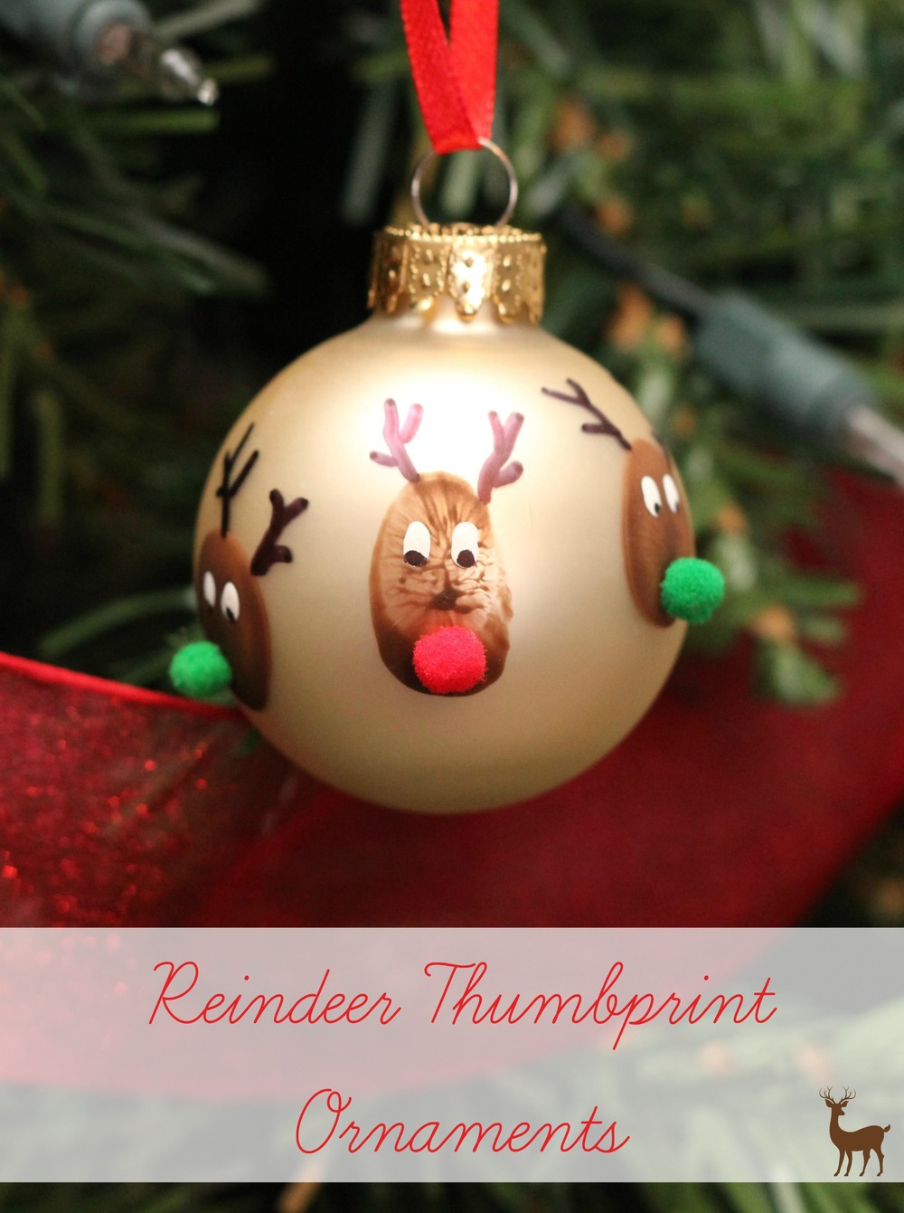 Reindeer Thumbprint Christmas Ornament Craft ...
