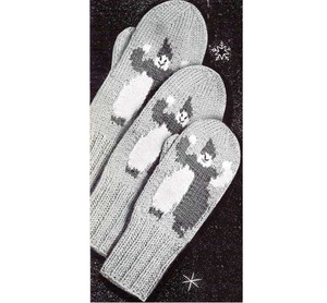 Children's Two Needle Mittens