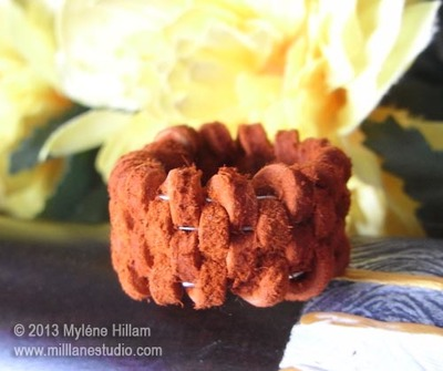 Woven Leather Ring