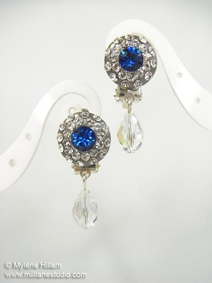 Sapphire and Crystal DIY Earrings