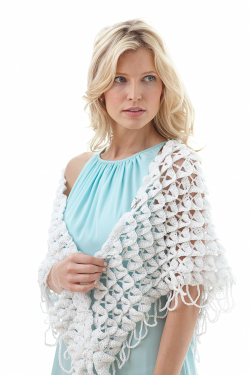 Apple Blossom Petals Crochet Shawl