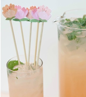 Spring Blossom Drink Stirrers  Grapefruit Mojitos