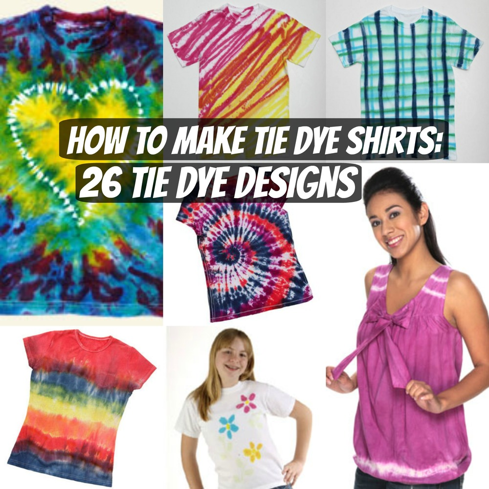 How to make tie dye shirts 26 tie dye designs for Making a tie dye shirt