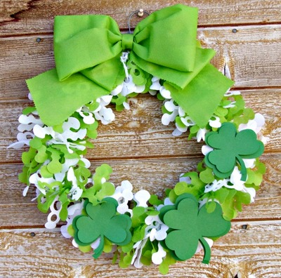 Festive St. Patrick's Day Wreath