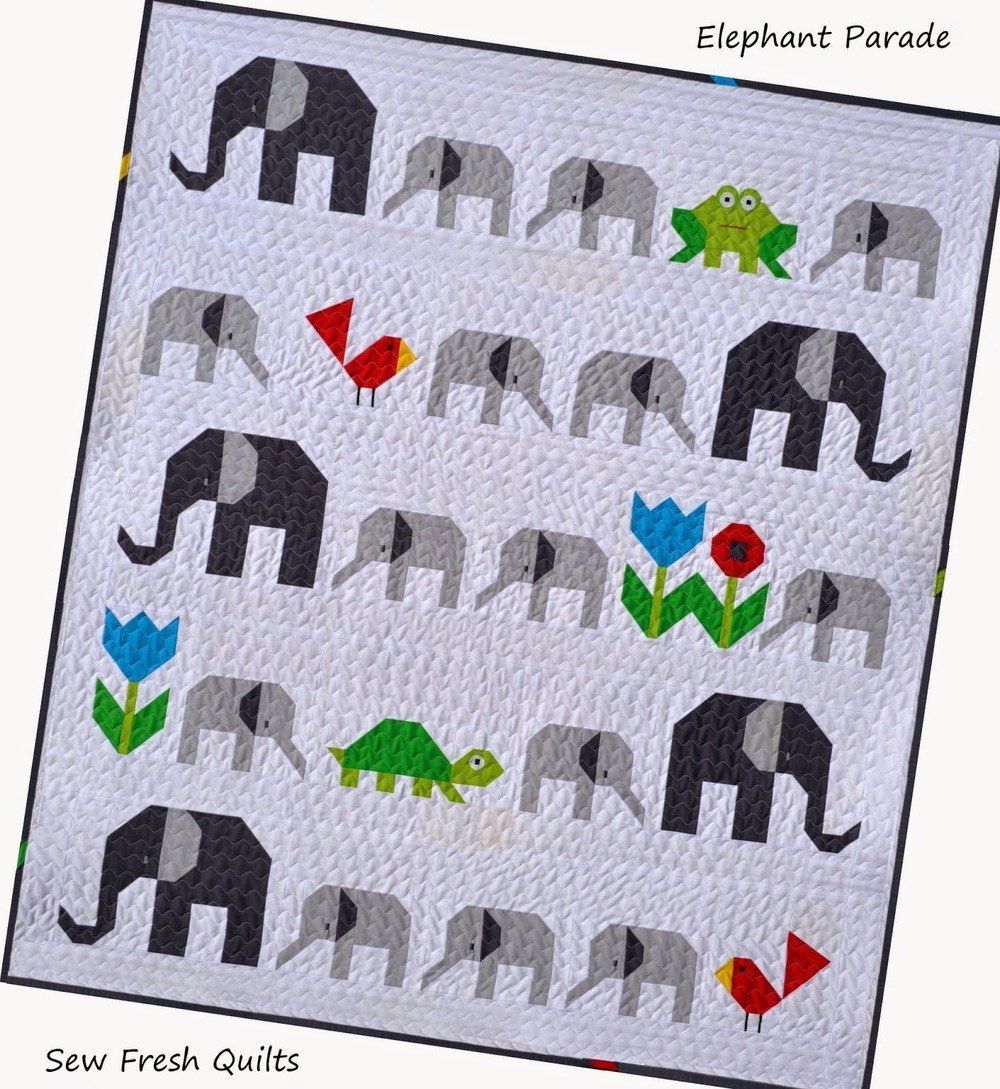 elephant parade baby quilt pattern favequilts com