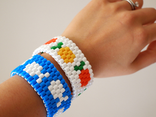 Fruit and Fish Perler Bead Bracelets