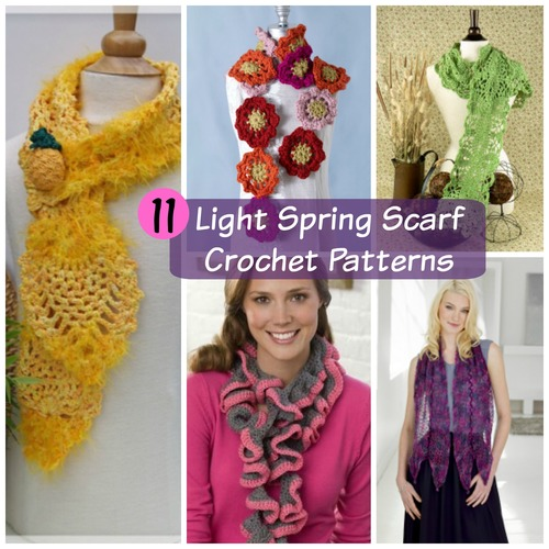 11 Light Spring Scarf Crochet Patterns Favecrafts