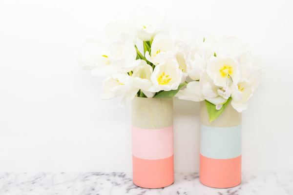 Contemporary Color Block Vases