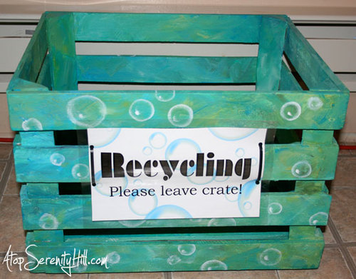 Clean Dreams Recycling Bin