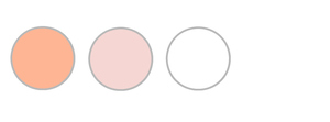Peach, Pale Pink, and White