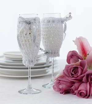 Crochet Champagne Glass Cover