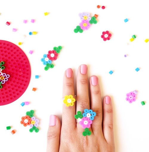 Hama Bead DIY Rings