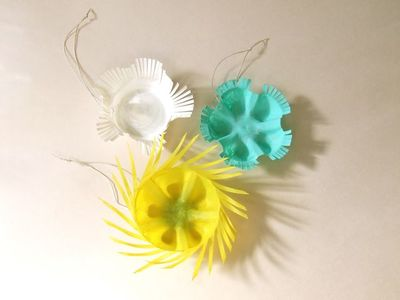 Plastic Bottle Bottom Ornaments Easy Christmas Craft