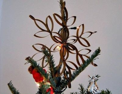 Toilet Paper Roll Tree Star Diy Christmas Craft