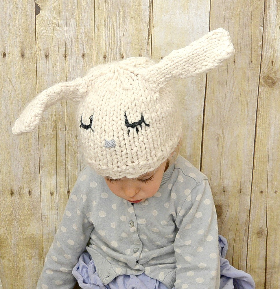 Super Cute Bunny Knit Hat Allfreeknitting Com