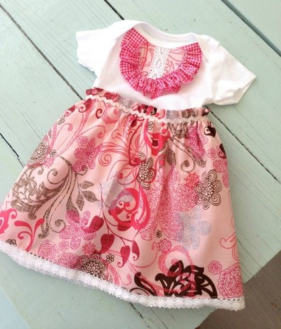 Baby Onesie Ruffle Dress