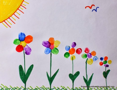 Flower Family Fingerprint Art