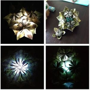 Breathtaking Lit Kusudama Centerpiece