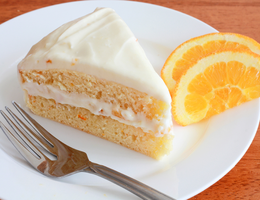 Cake Icing Recipe By Zarnak: Orange Cake With Cream Cheese Frosting