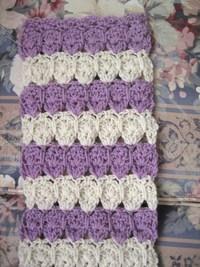 Springtime Puffed Shells Crochet Scarf