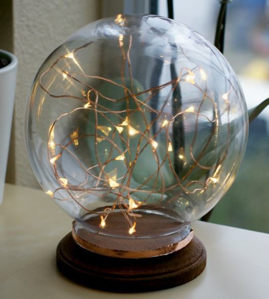 Magnificent Illuminated Copper Globe