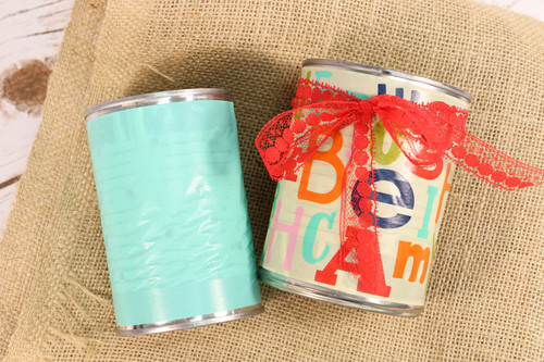 Ten Minute Tin Can Luminaries