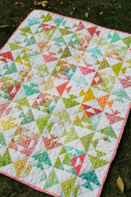 Kissing Fish Baby Quilt | FaveQuilts.com