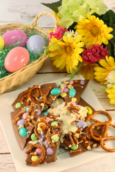 Leftover Easter Candy Bark