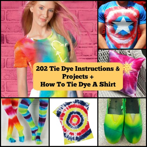 232 Tie Dye Instructions And Projects How To Tie Dye A Shirt