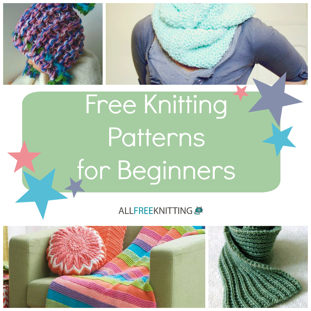 All Free Patterns Knitting : Knitting For Beginners: 54 Easy Knitting Patterns AllFreeKnitting.com