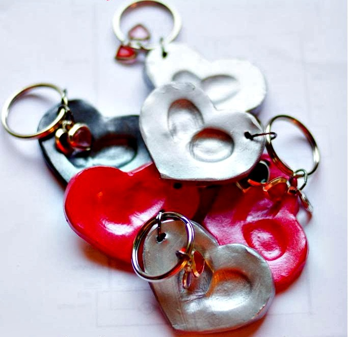 Clay Heart Diy Keychain Allfreekidscrafts Com