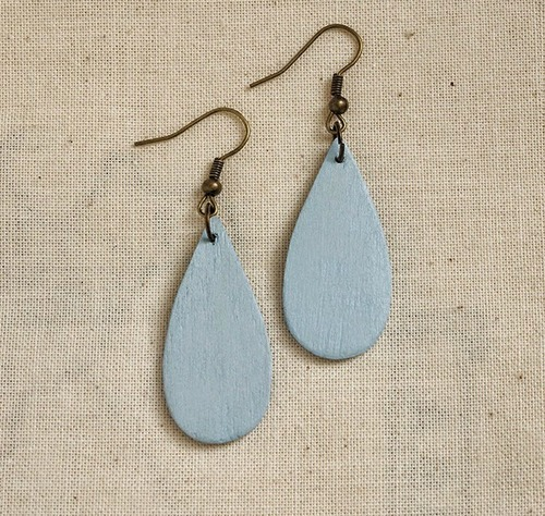 Popsicle Stick Raindrop Earrings