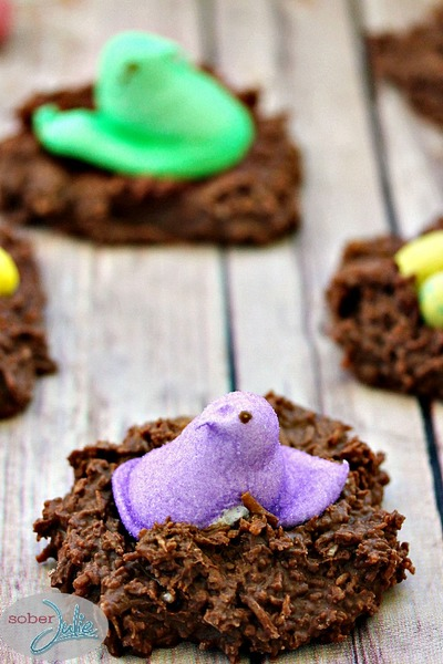 No Bake Coconut Easter Nests
