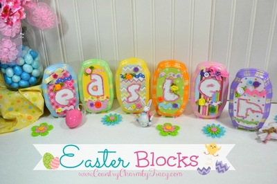 Wooden Decorative Easter Blocks