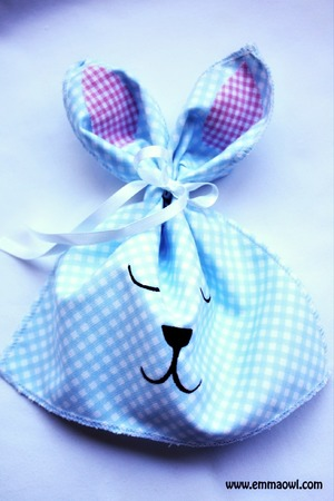 Ribbon Tie Easter Bunny Bags