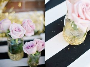 All That Glitters Dipped Mason Jars