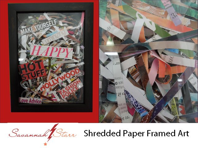 Shredded Paper Framed Art