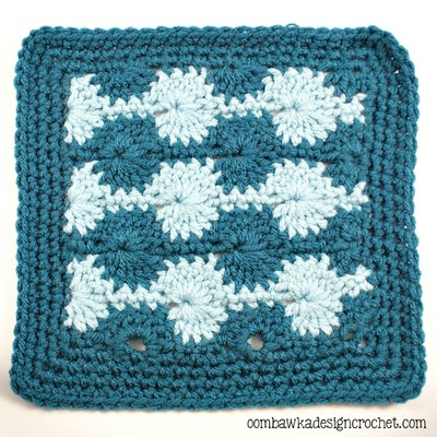 Catherine Wheel Stitch Afghan Square