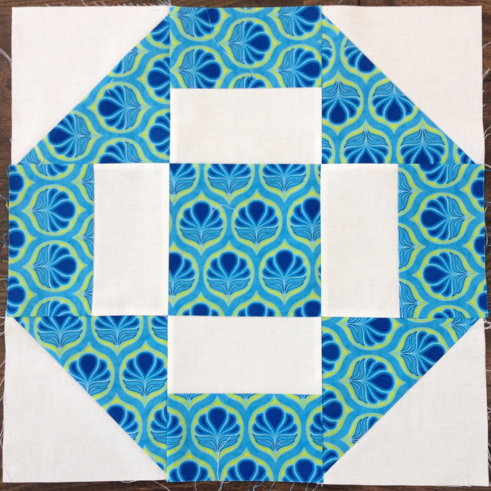 Large Square Block Quilt Patterns : Grecian Square Block Pattern FaveQuilts.com