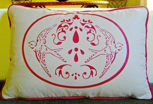 Nature Damask Free Pillow Pattern