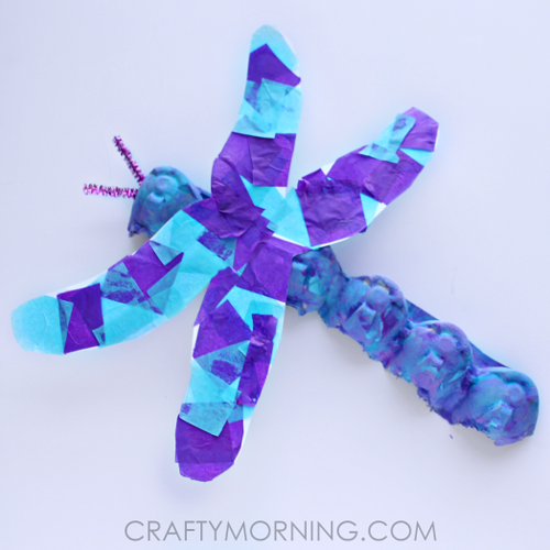 Dragonfly Egg Carton Craft