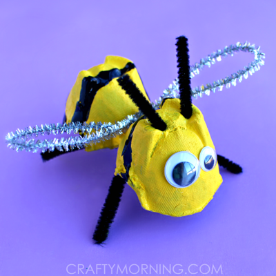 Buzzing Bee Egg Carton Craft