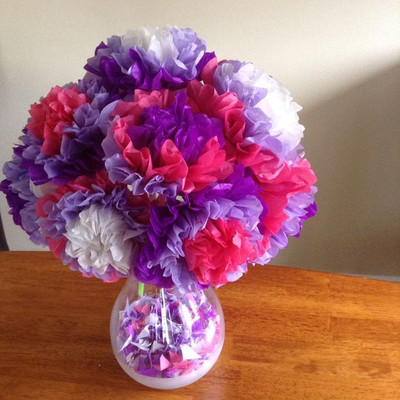 Super Pretty Tissue Paper Flowers