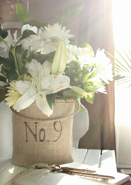 Purely rustic wedding vase allfreediyweddings